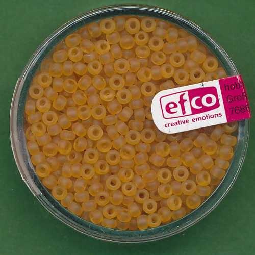 Rocailles 2,6mm honig matt transparent
