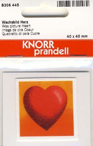 Wachsbild Herz 4x4cm