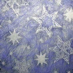 Vlies Sterne blau/silber