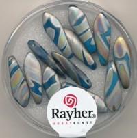 Dagger Beads 16x5mm royalblau