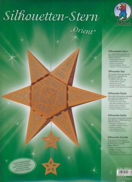 Silhouetten Stern Orient kupfer