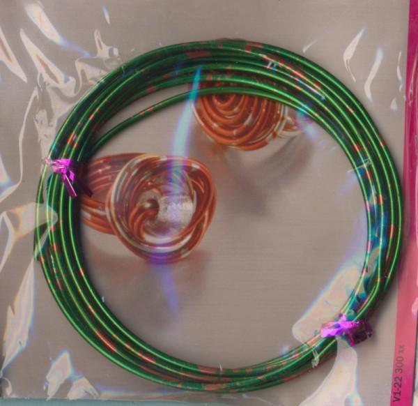 2230014_Aludraht-2mm-duocolor-grasgrün-rot-2m