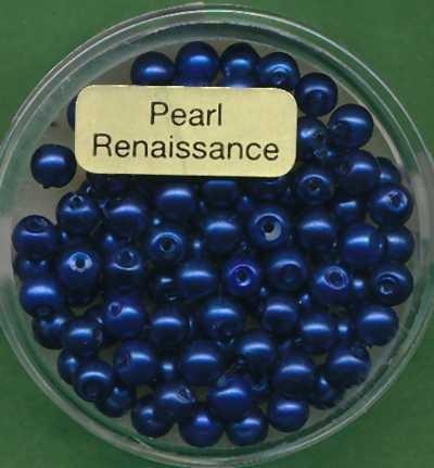 Glaswachsperlen 4mm matt dunkelblau