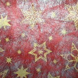 Vlies Sterne bordeaux/gold