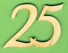 Jubiläumszahl 25 - 33mm