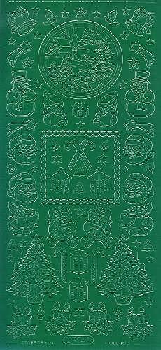Sticker Xmas grün
