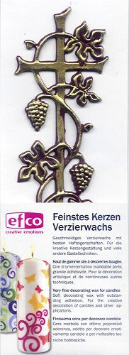 Wachsdekor Kreuz Weinranke gold