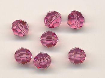 Swarovski Glasschliffperlen 6mm rose