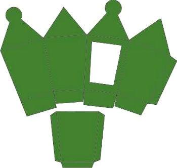 3D-Laternenbox grün