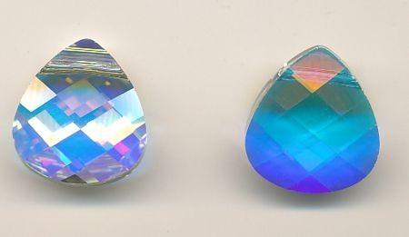 Swarovski Flat Briolet crystal AB
