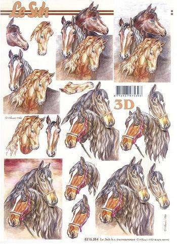 3D Motivbogen Pferde