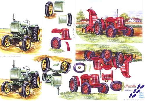 Motivbogen Traktor