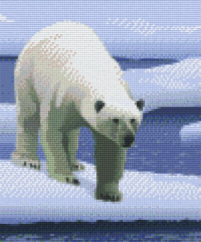 806149 Pixelhobby Set Eisbär 3 mit 6 Platten