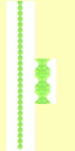 Wachs-Borte Blüte 240x10mm grün