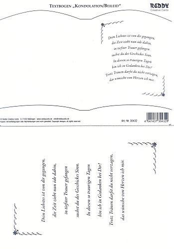 Bookatrix Textbogen Kondolenz