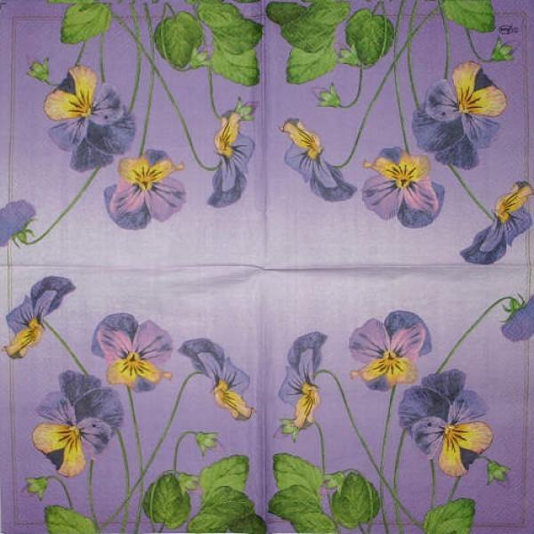 Serviette Violets lilac