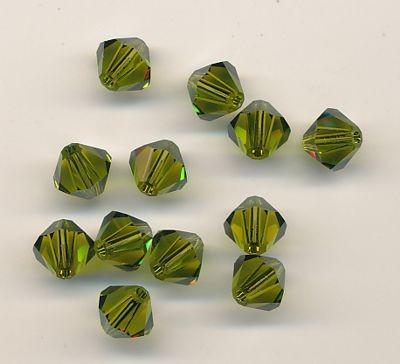 Swarovski Glasschliffperlen 6mm olivine