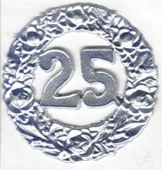 Wachsdekor Jubiläum 25 silber
