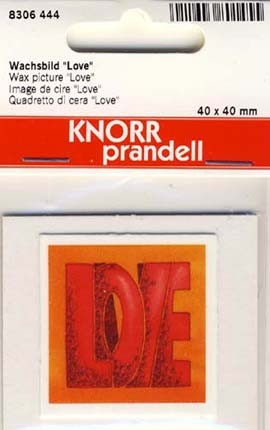 Wachsbild Love 4x4cm