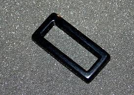 Polaris Rechteck schwarz glänzend 18x38mm