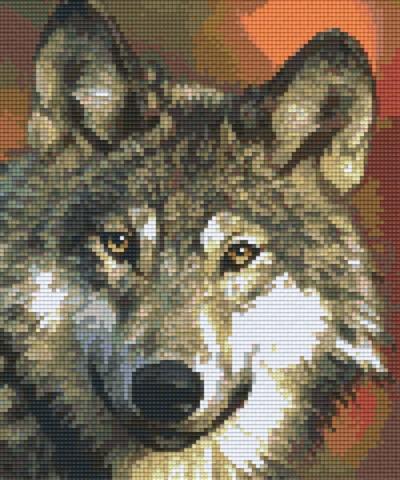 806089 Pixelhobby Set Wolf 6 mit 6 Platten