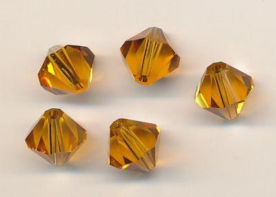 Swarovski Glasschliffperlen 8mm topas