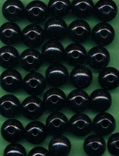 Holzperlen 12mm schwarz 30 Stück