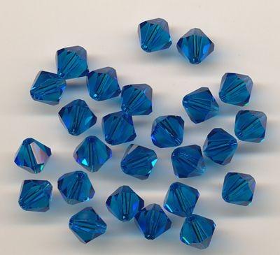 Swarovski Glasschliffperlen 6mm nachtblau