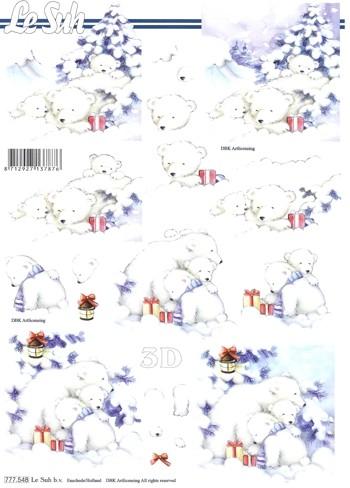 3D-Motivbogen Eisbär Weihnacht 2