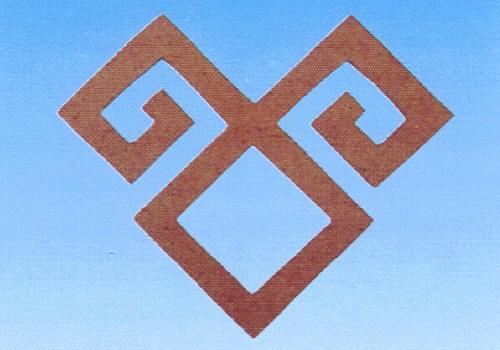Holz-Dekor Mäander