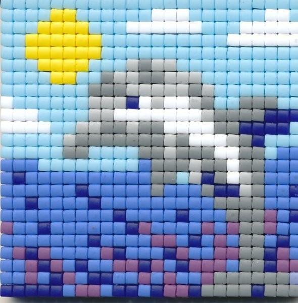 Set kleine Basisplatte Delphin
