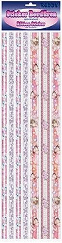 Ribbon Sticker rosé-hellblau mit Glitter und Elfen