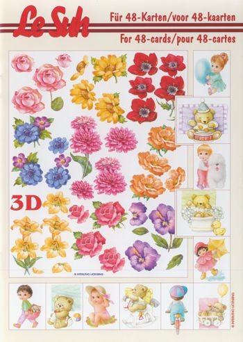 3D Motivbuch Kinder- und Blumenmotive A5