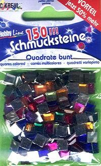 Schmucksteine-Set Quadrate bunt