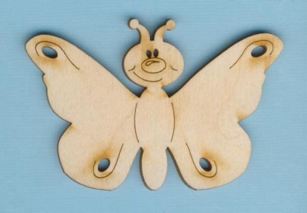 Holz-Deko Schmetterling lustig 80mm