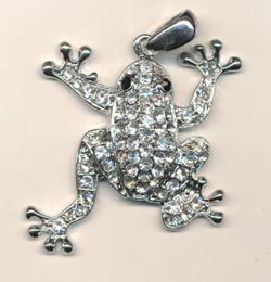 Metallteil Frosch ca. 40mm