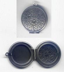 460302811 Kettenanhänger Medaillon 3cm alteisen