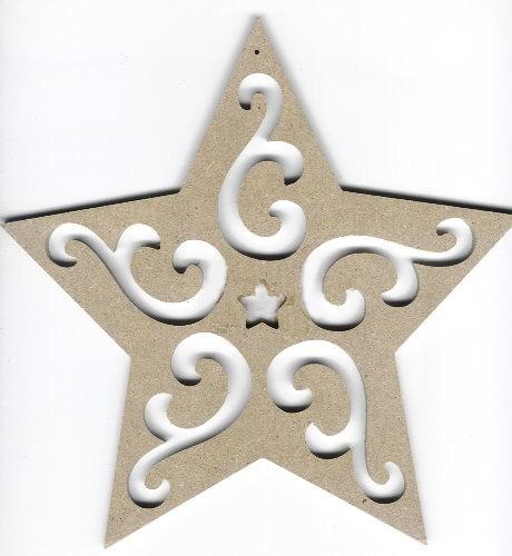 Holz-Dekor Stern groß