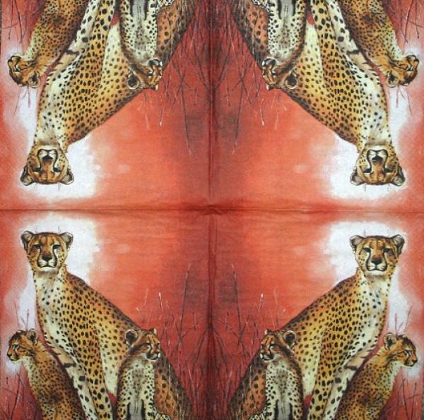 Serviette Leoparden