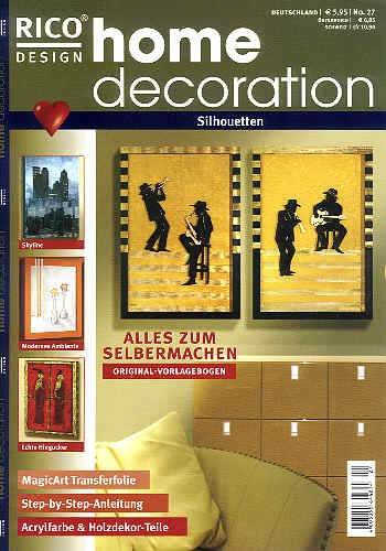 Buch Home Decoration Silhouetten
