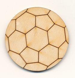 Holz-Deko Fußball 5cm