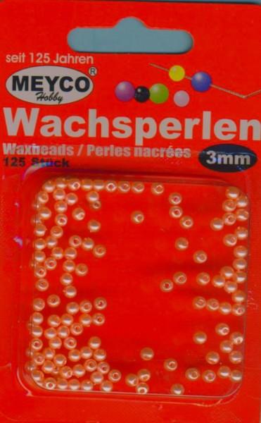 Wachsperlen 3mm lachs