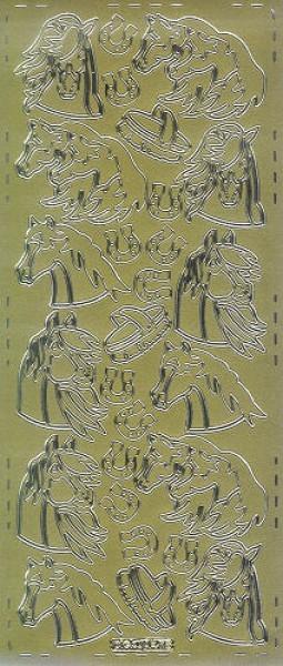 Sticker Pferde4 gold
