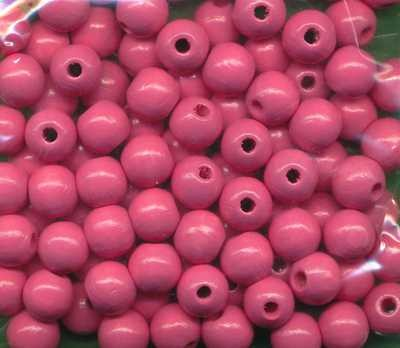 Holzperlen 8mm rosa