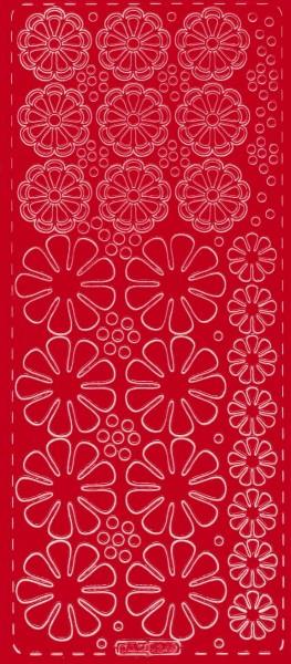 Sticker Blumen 5 rot