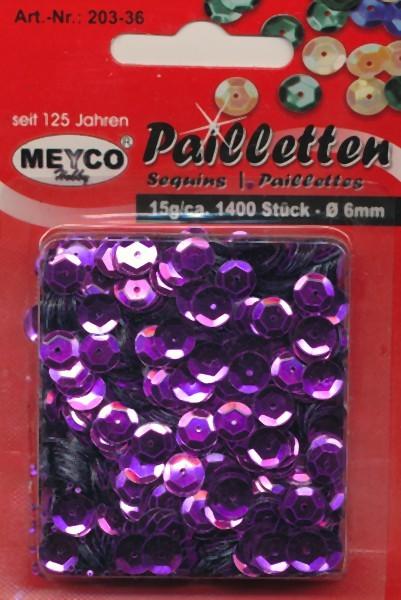 Pailletten gewölbt 6mm violett