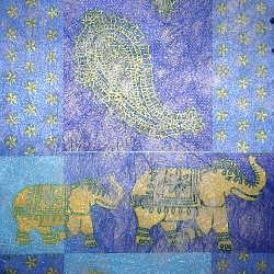 Vlies Elefant blau