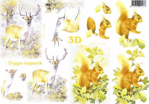 Motivbogen Tiere im Wald