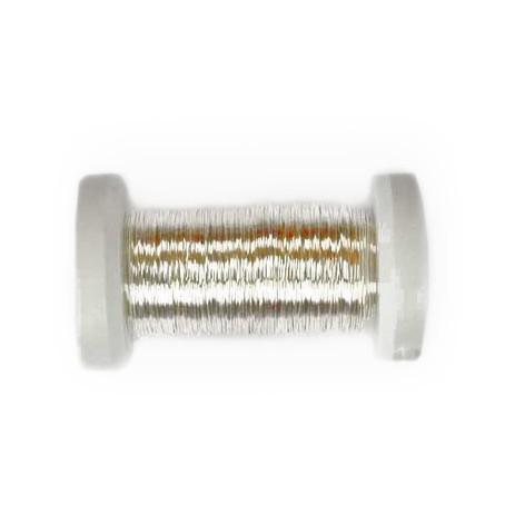 Schmuck-Häkeldraht silber metallic 0,3mm 50m