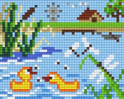 Set Enten im Wasser